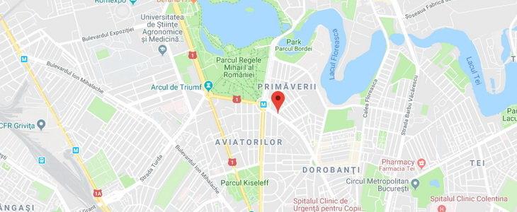 בוקרשט - דירה מרווחת מפת האזור